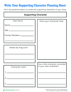 Write Your Supporting Character