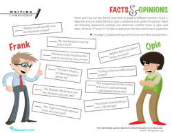 Fact & Opinion Worksheet
