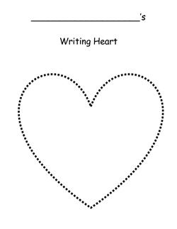 Writing Heart Template