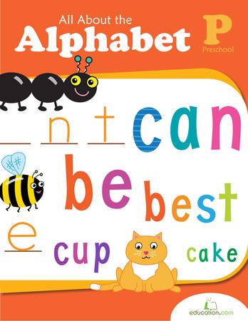 Preschool Reading & Writing Workbooks: All About the Alphabet