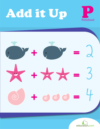 Preschool Math Workbooks: Add It Up