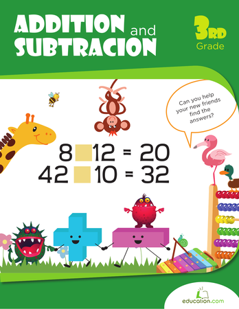 Third Grade Math Workbooks: Addition and Subtraction Practice