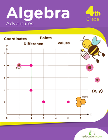 Fourth Grade Math Workbooks: Algebra Adventures