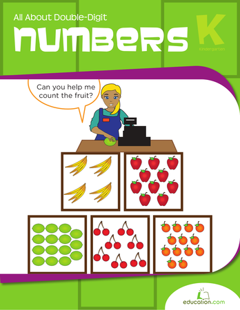 Kindergarten Math Workbooks: All About Double-Digit Numbers