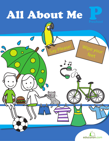 Preschool Reading & Writing Workbooks: All About Me
