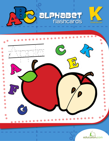 Kindergarten Reading & Writing Workbooks: Alphabet Flash Cards