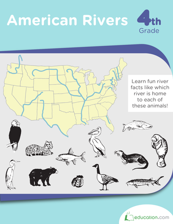 Fourth Grade Social Studies Workbooks: American Rivers