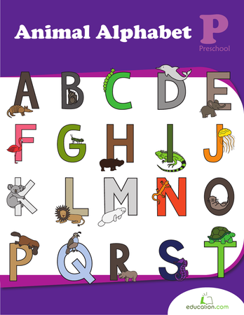 Preschool Reading & Writing Workbooks: Animal Alphabet