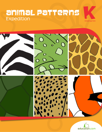 Kindergarten Math Workbooks: Animal Patterns Expedition