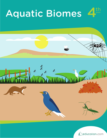 Fourth Grade Science Workbooks: Aquatic Biomes