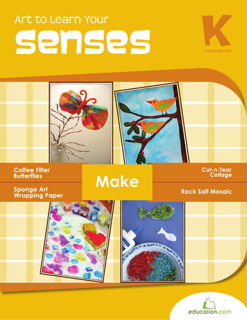 Kindergarten Reading & Writing Workbooks: Art to Learn Your Senses