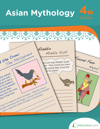 Fourth Grade Reading & Writing Workbooks: Asian Mythology