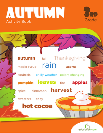 Third Grade Reading & Writing Workbooks: Autumn Activity Book