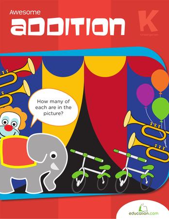 Kindergarten Math Workbooks: Awesome Addition