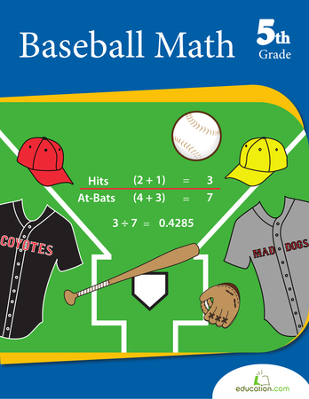 Fifth Grade Math Workbooks: Baseball Math