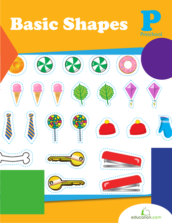 Preschool Math Workbooks: Basic Shapes