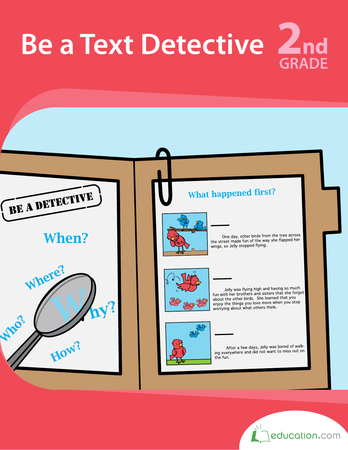 Second Grade Reading & Writing Workbooks: Be a Text Detective