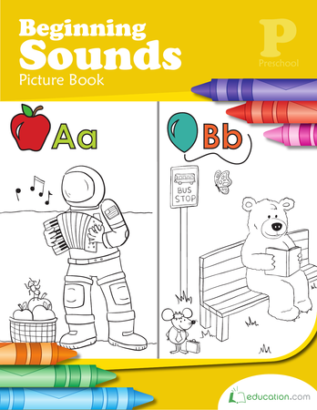 Preschool Reading & Writing Workbooks: Beginning Sounds Picture Book
