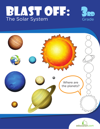 Third Grade Science Workbooks: Blast Off: The Solar System