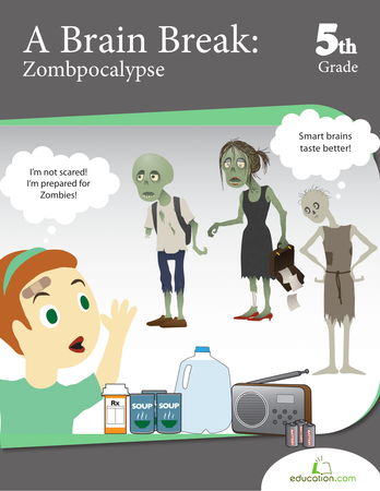 Fifth Grade Reading & Writing Workbooks: A Brain Break: Zombpocalypse