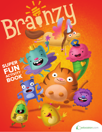 Kindergarten Math Workbooks: Brainzy's Super Fun Activity Book