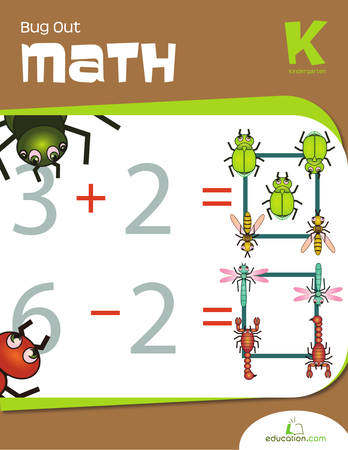 Kindergarten Math Workbooks: Bug Out Math