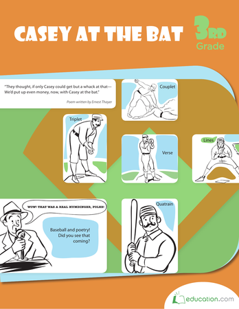 Third Grade Reading & Writing Workbooks: Casey at the Bat