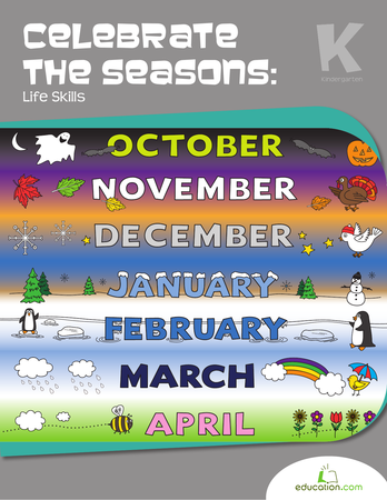 Kindergarten Math Workbooks: Celebrate the Seasons: Life Skills