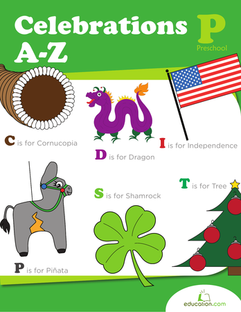 Preschool Reading & Writing Workbooks: Celebrations A to Z