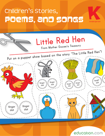 Kindergarten Reading & Writing Workbooks: Children's Stories, Poems, and Songs