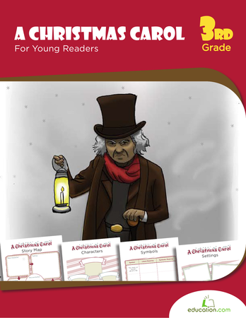 Third Grade Reading & Writing Workbooks: A Christmas Carol For Young Readers