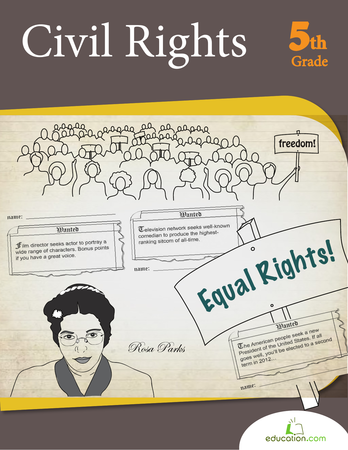 Fifth Grade Reading & Writing Workbooks: Civil Rights