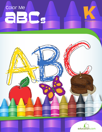 Kindergarten Reading & Writing Workbooks: Color Me ABCs