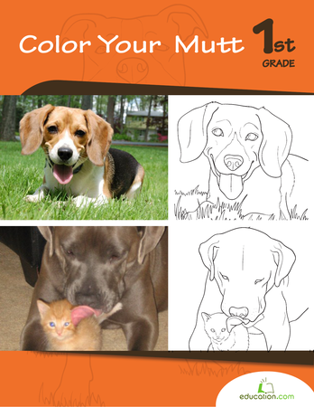 First Grade Reading & Writing Workbooks: Color Your Mutt