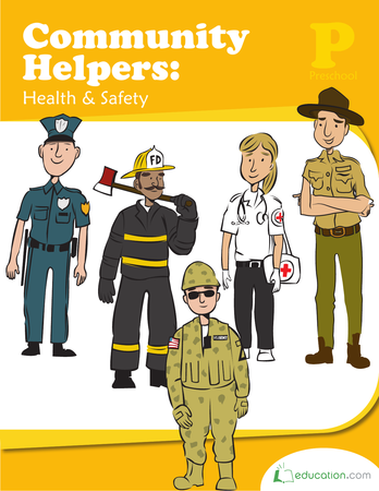 Preschool Reading & Writing Workbooks: Community Helpers: Health and Safety