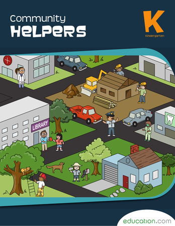 Kindergarten Reading & Writing Workbooks: Community Helpers