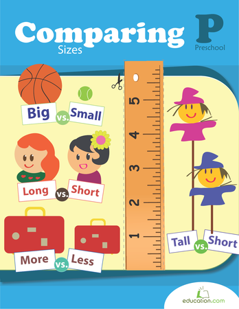 Preschool Math Workbooks: Comparing Sizes