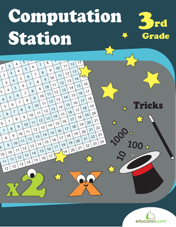 Third Grade Math Workbooks: Computation Station