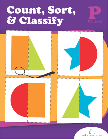 Preschool Math Workbooks: Count, Sort and Classify