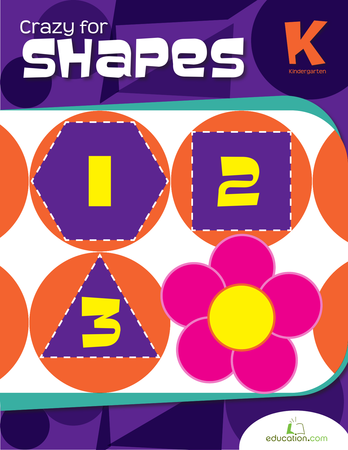 Kindergarten Math Workbooks: Crazy for Shapes