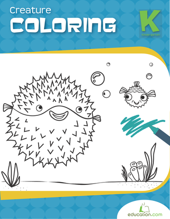 Kindergarten Coloring Workbooks: Creature Coloring