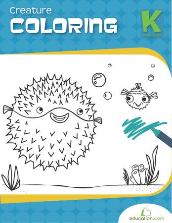 Kindergarten Coloring Workbooks: Creature Coloring