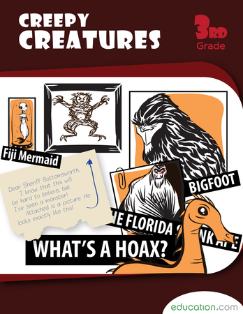 Third Grade Reading & Writing Workbooks: Creepy Creatures