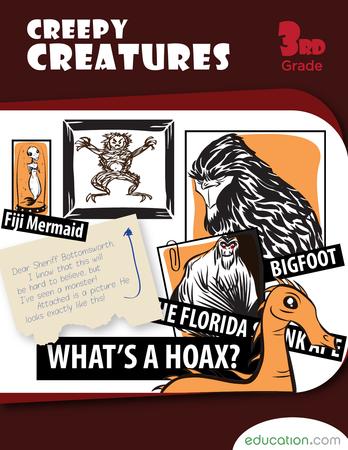 Third Grade Reading & Writing Workbooks: Creepy Creatures