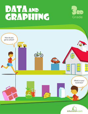Third Grade Math Workbooks: Data and Graphing
