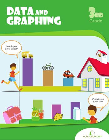 Third Grade Math Workbooks: Data and Graphing