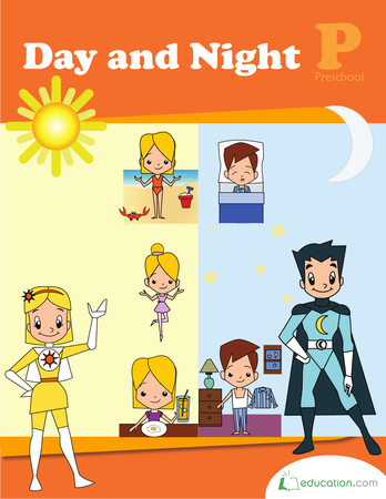 Preschool Reading & Writing Workbooks: Day and Night