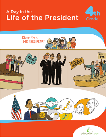 Fourth Grade Social Studies Workbooks: A Day in the Life of the President