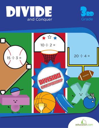 Third Grade Math Workbooks: Divide and Conquer