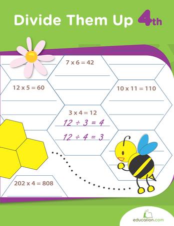 Fourth Grade Math Workbooks: Divide Them Up